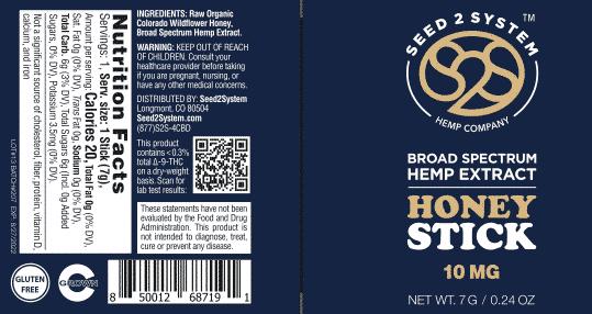 CBD Honey Stick Label